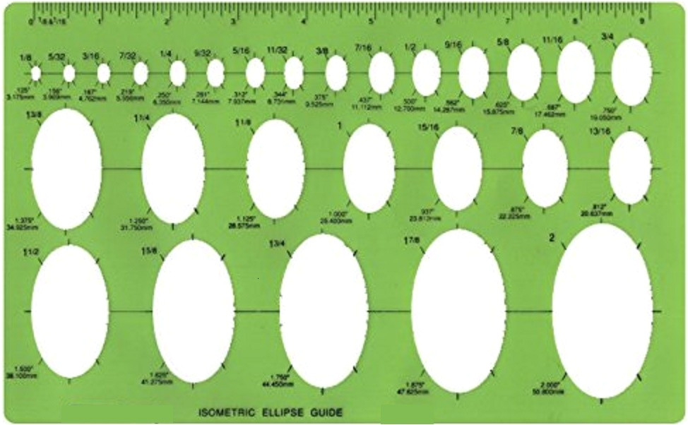 isometric ellipse guide template 27 ellipses