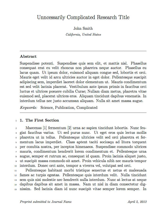 elseviers elsarticle document class