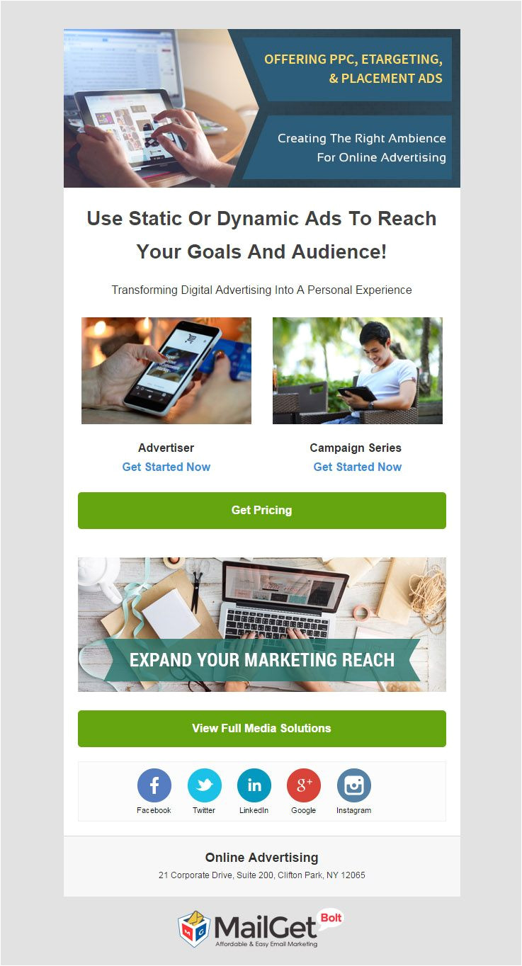 best advertising agencies email templates