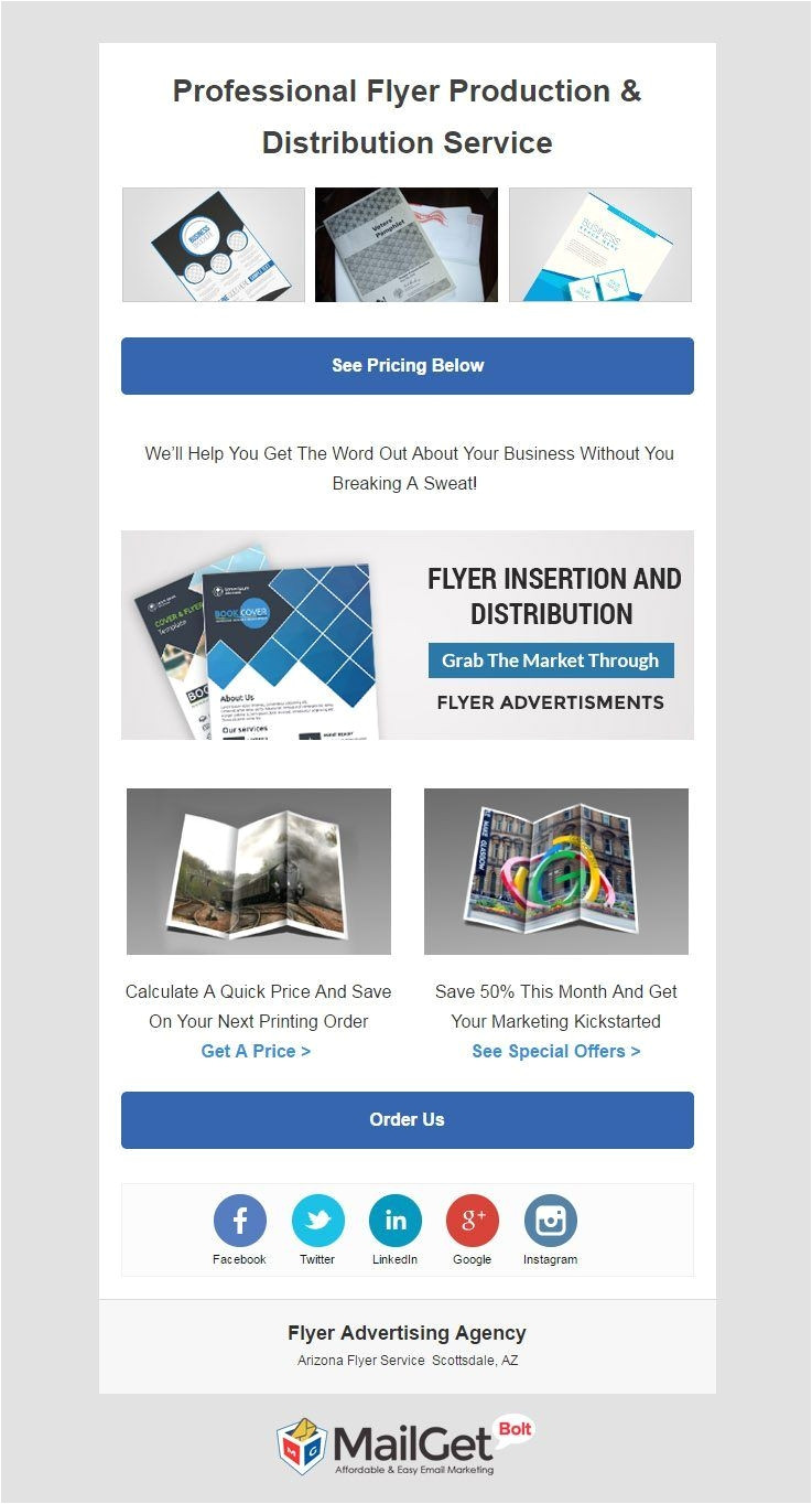 advertising email template
