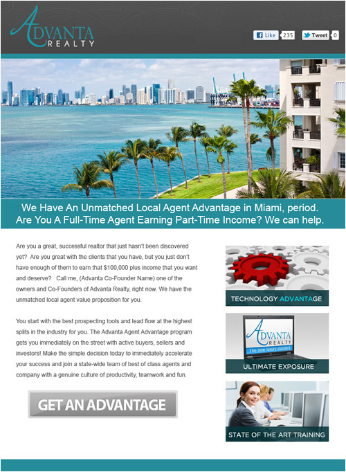 real estate email marketing recruiting flyers product tour