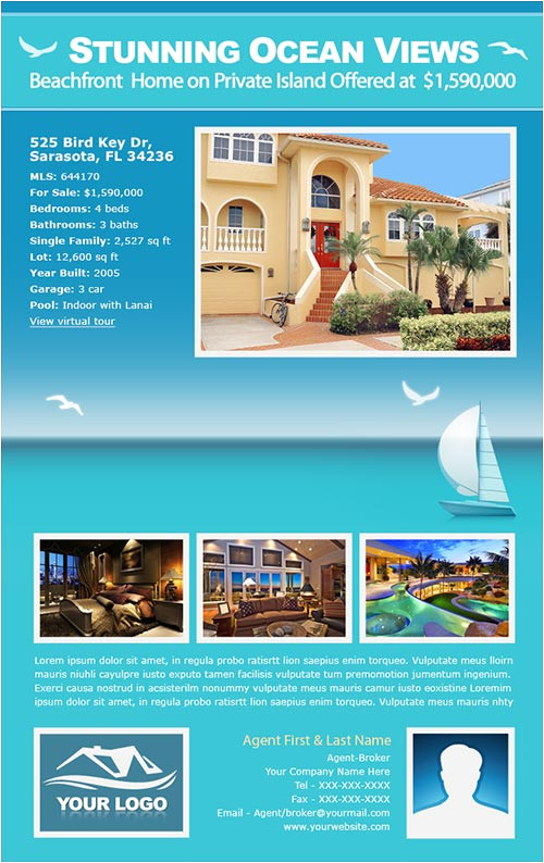 real estate email flyers example campaigns