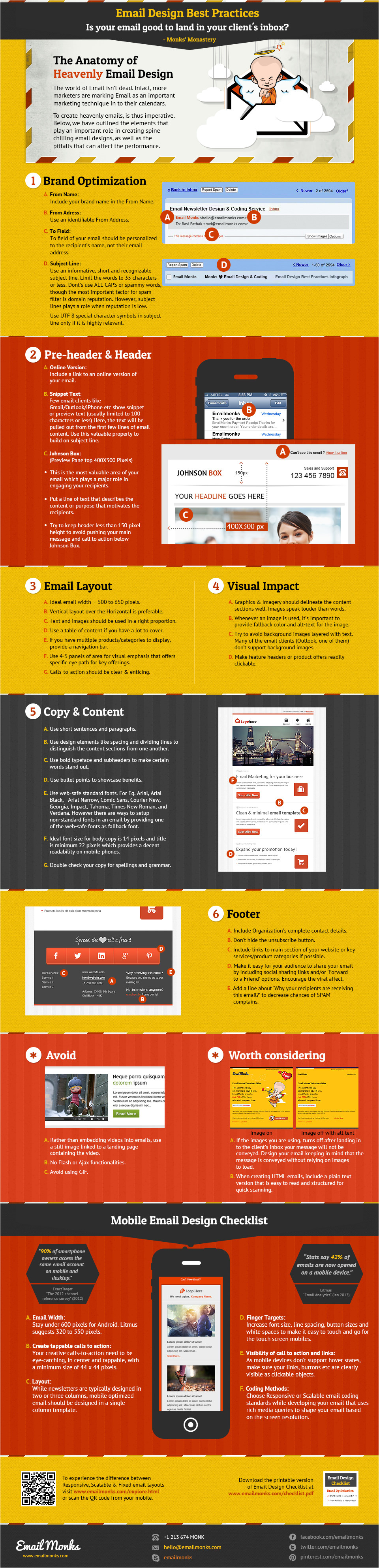 Email Template Design Best Practices Email Design Best Practices Infographic Smart Insights