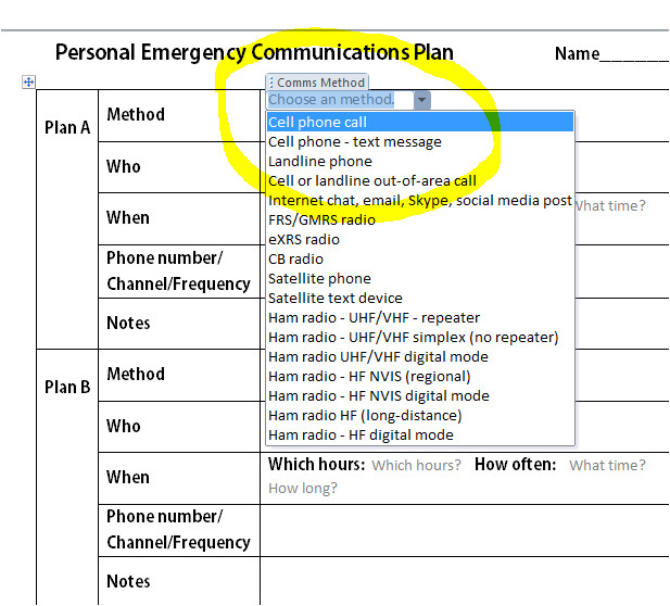 Emergency Communications Plan Template Emergency Communications Plan Templates Preparedblog