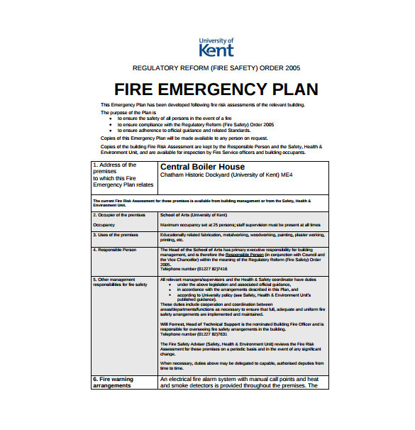 Emergency Operation Plan Template 14 Emergency Plan Templates Free Sample Example