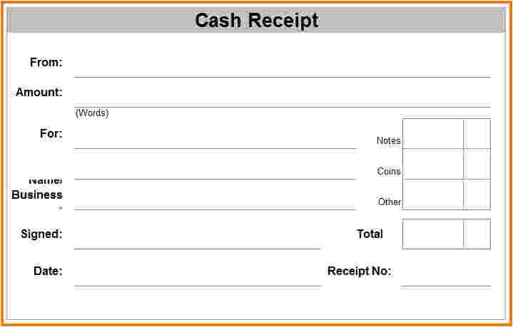 8 blank receipt