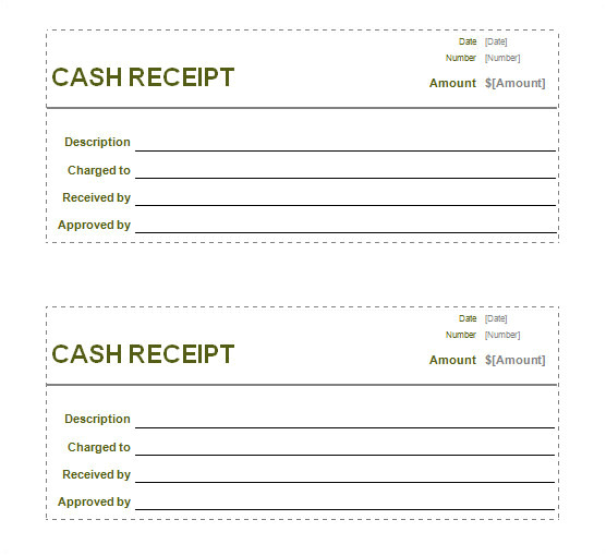 receipt printable template