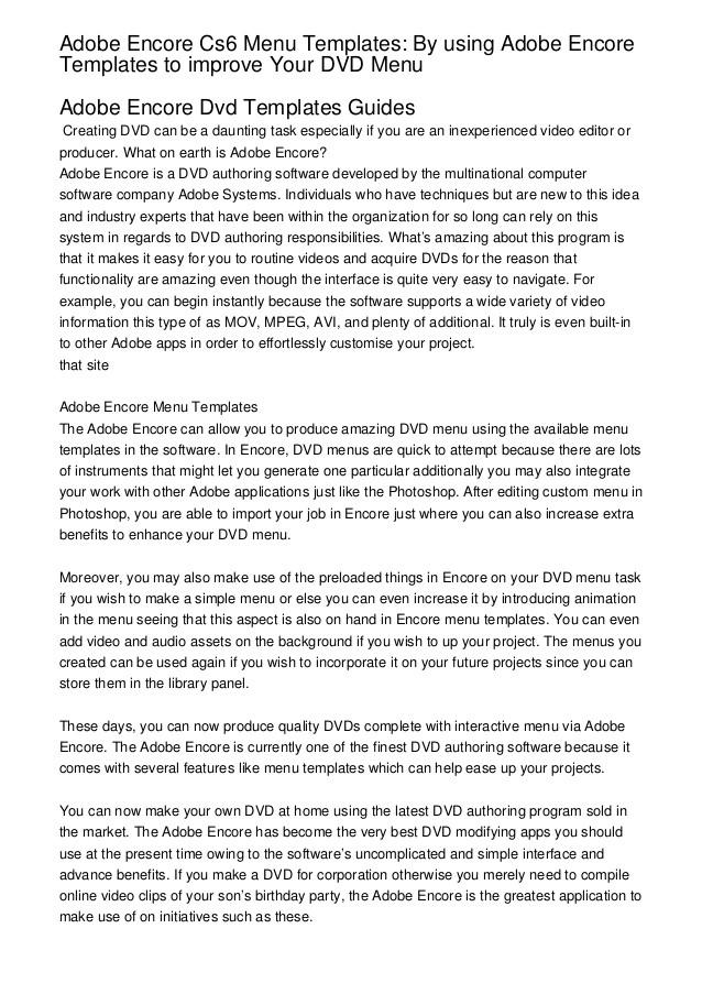 Encore Cs6 Menu Templates Adobe Encore Cs6 Menu Templates by Using Adobe Encore