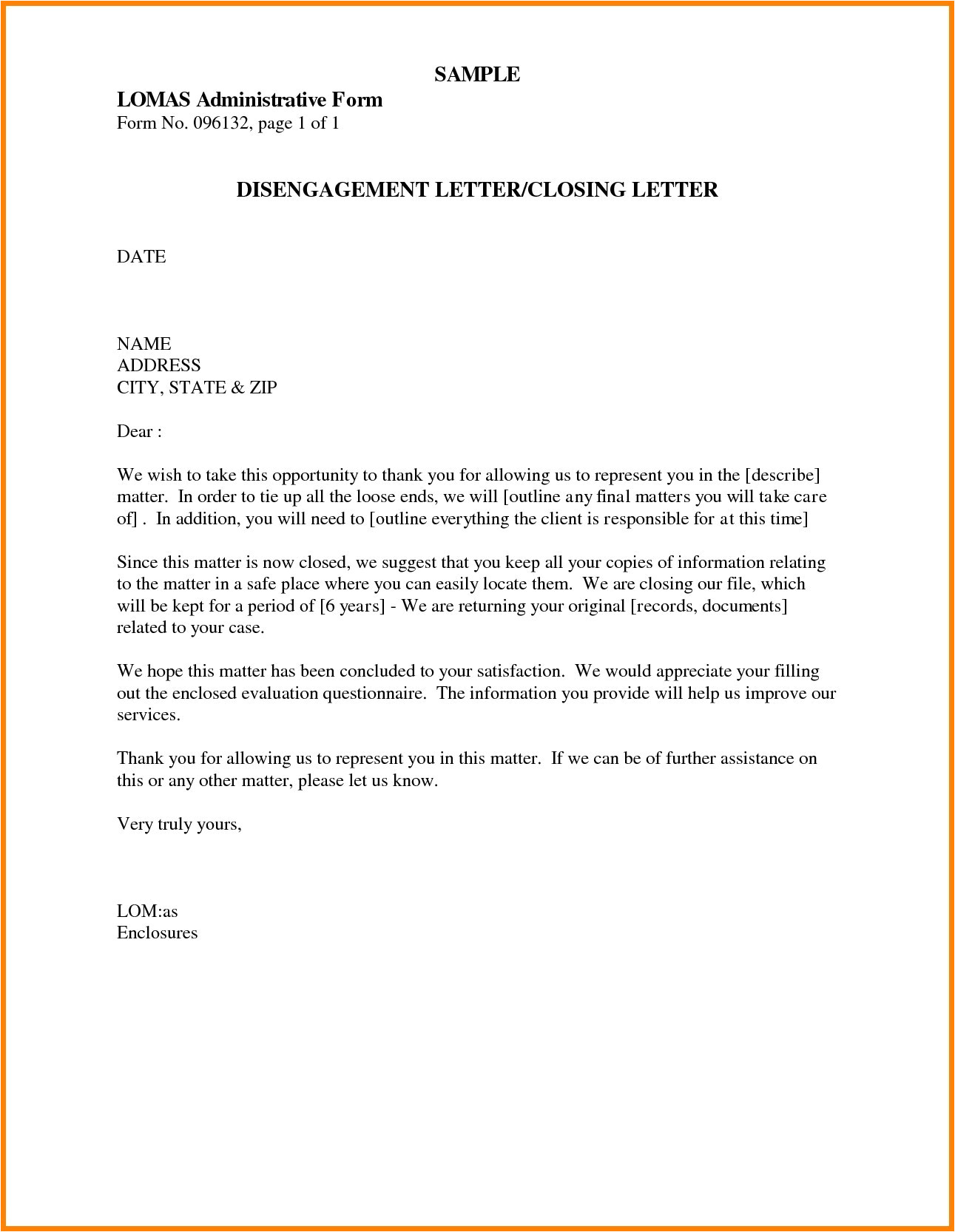 closing letters