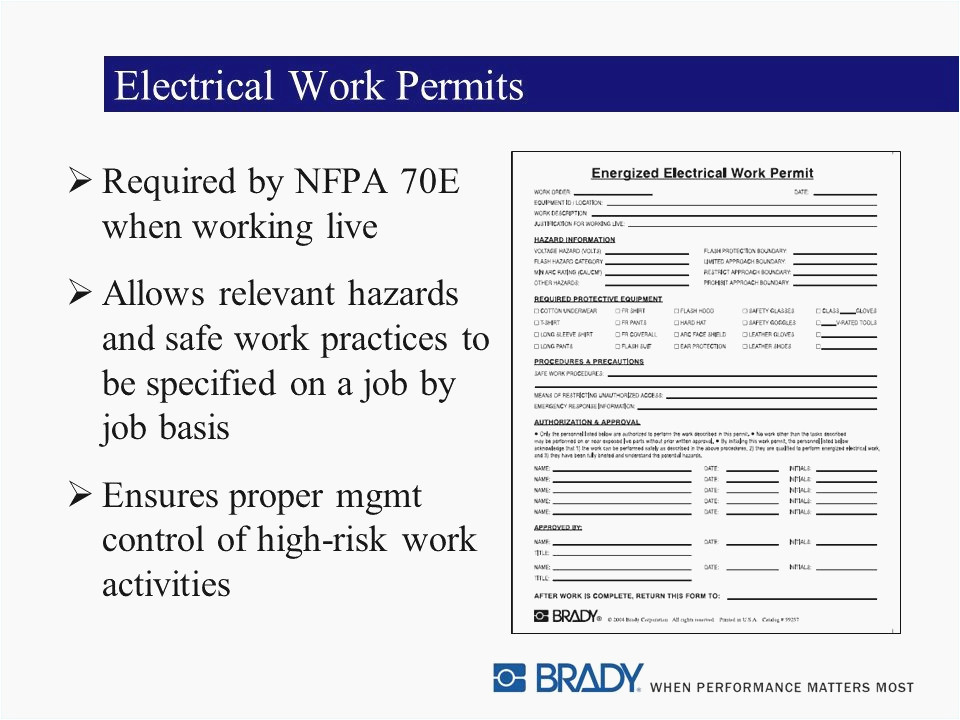 Energized Electrical Work Permit Template Find the Best Custom Energized Electrical Work Permit
