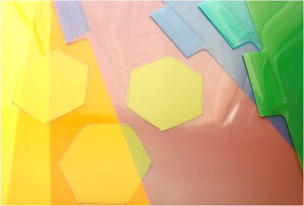make plastic hexagon template
