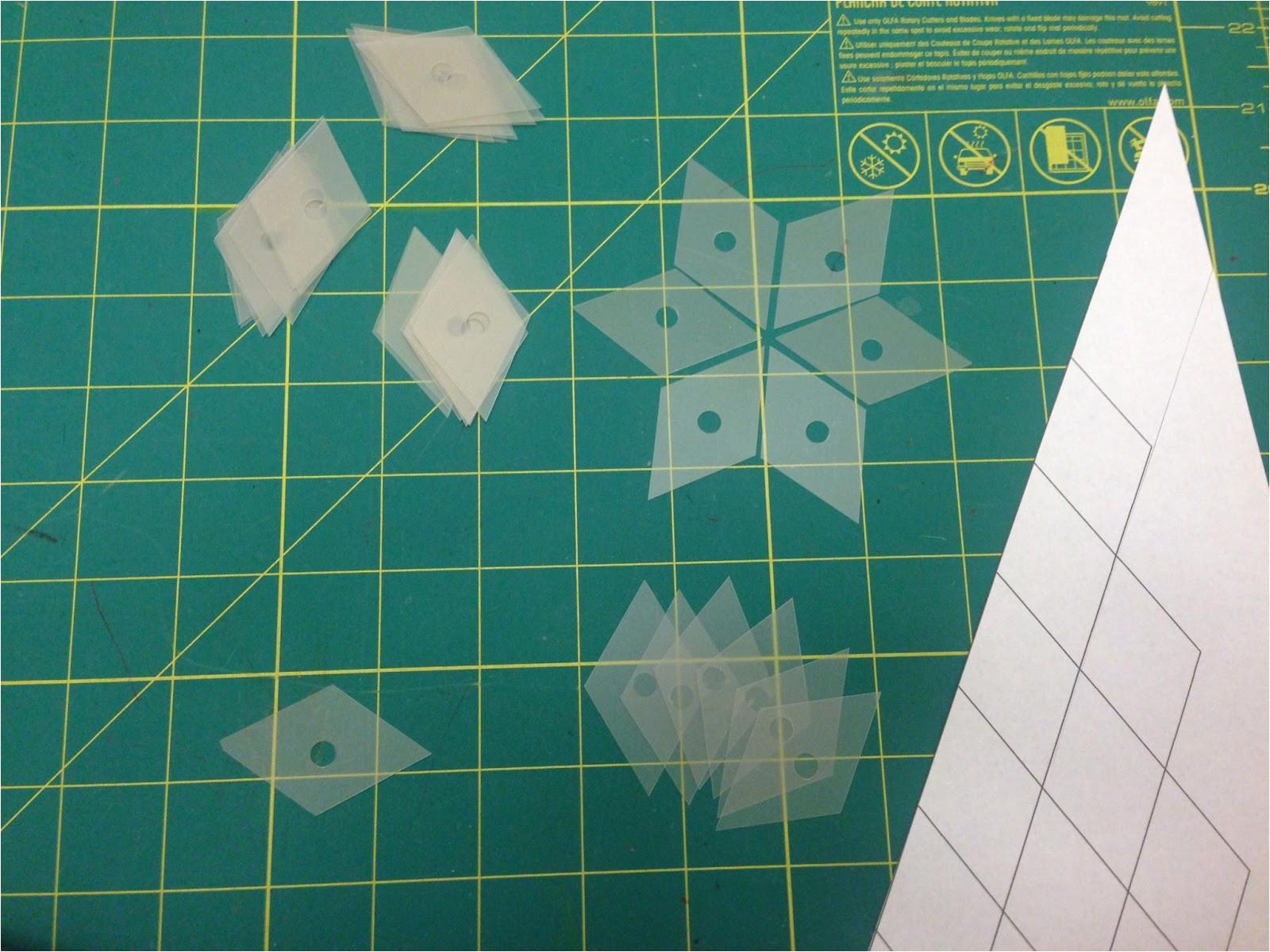 English Paper Piecing Templates Plastic Chucklemops Make Your Own Templates for English Paper Piecing