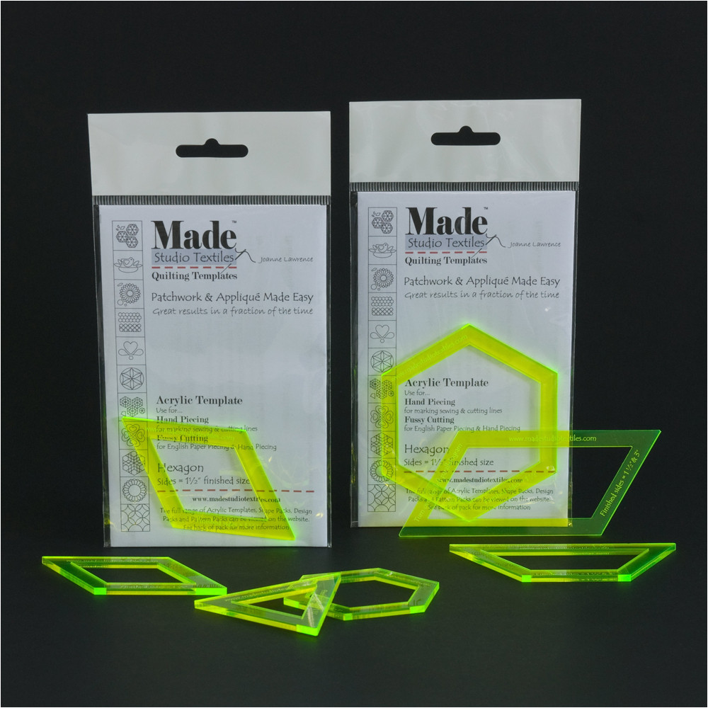 english paper piecing plastic templates
