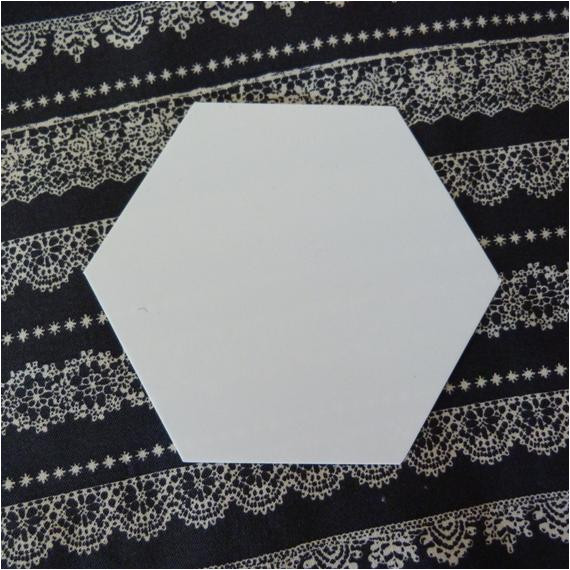 plastic hexagon quilt template for