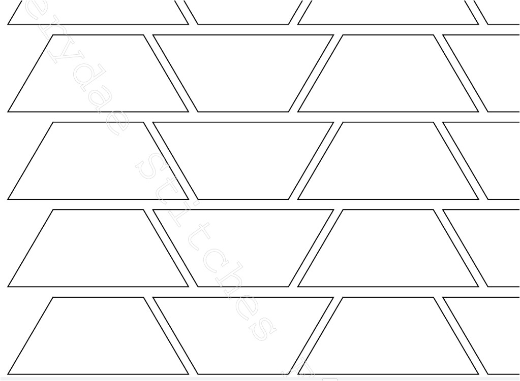 English Paper Piecing Templates Uk English Paper Piecing Trapezium Template by Faerydaestitch