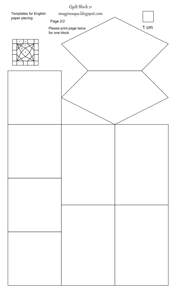 quilt block 21 templates for hand