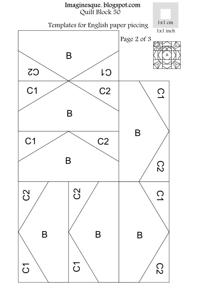 English Paper Piecing Templates Uk Imaginesque Quilt Block 50 Pattern English Paper