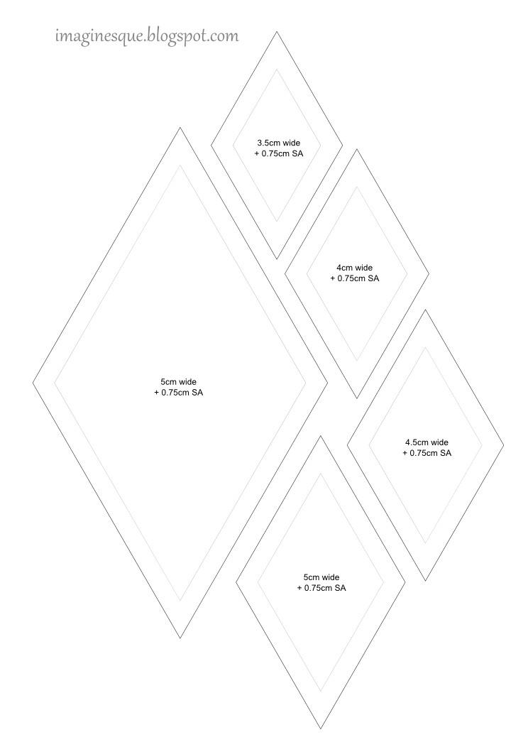 quilt diamonds templates