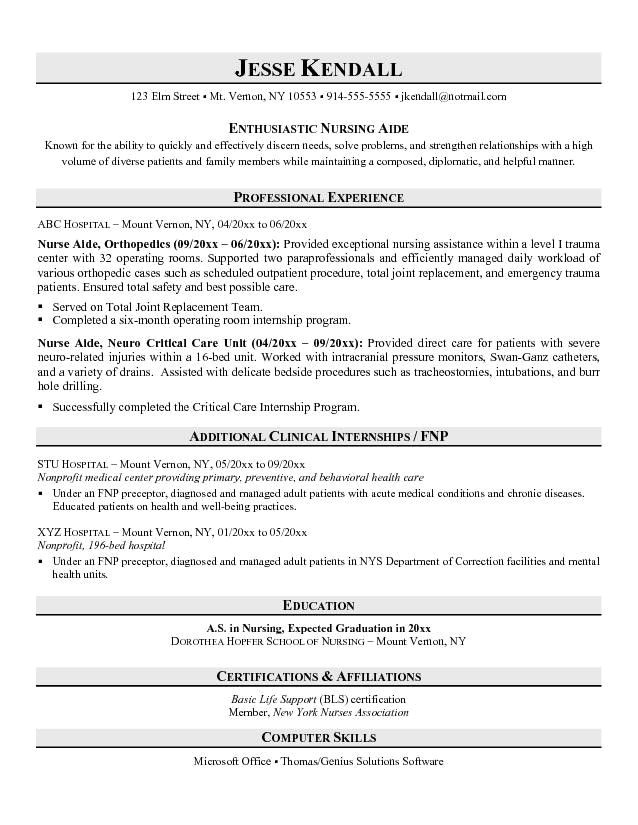 entry level cna resume no experience