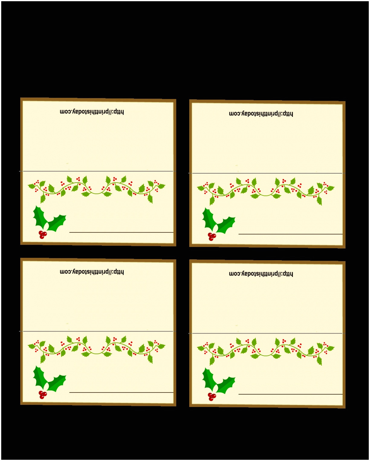 place cards template 6 per sheet