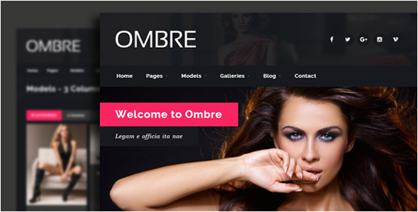 Escort Directory Template Ombre Model Agency Fashion HTML Template by Egemenerd