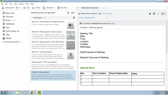 cornell notes template evernote app