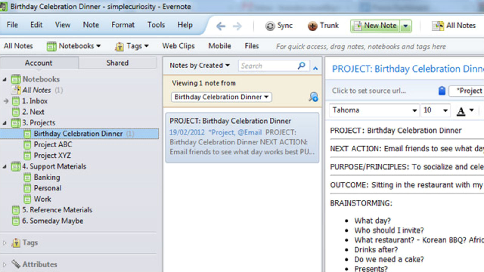 Evernote Templates Download Get Things Done with Evernote Using Gtd Templates