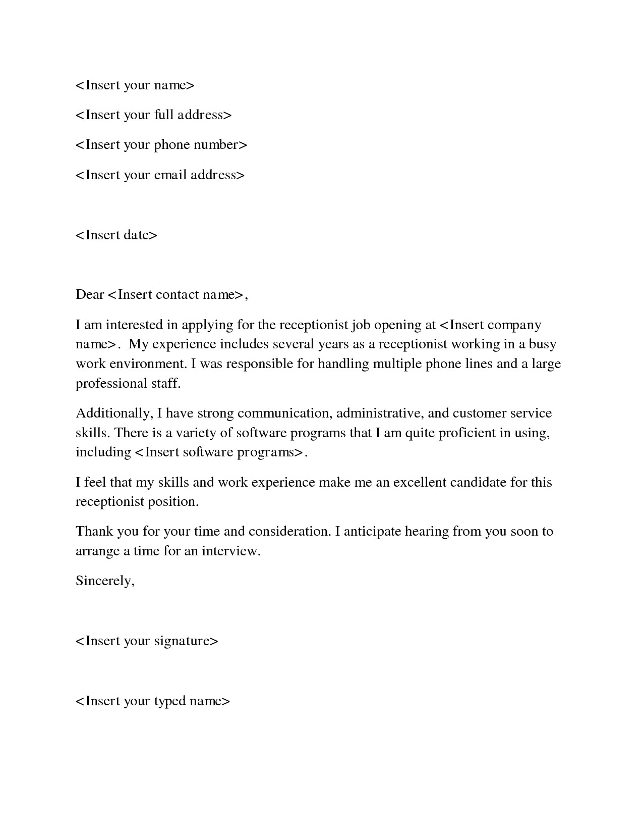 Example Of A Cover Letter for A Receptionist Cover Letter Help Receptionist Resume top Essay