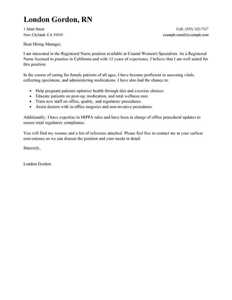 Example Of A Written Cover Letter Free Cover Letter Examples for Every Job Search Livecareer