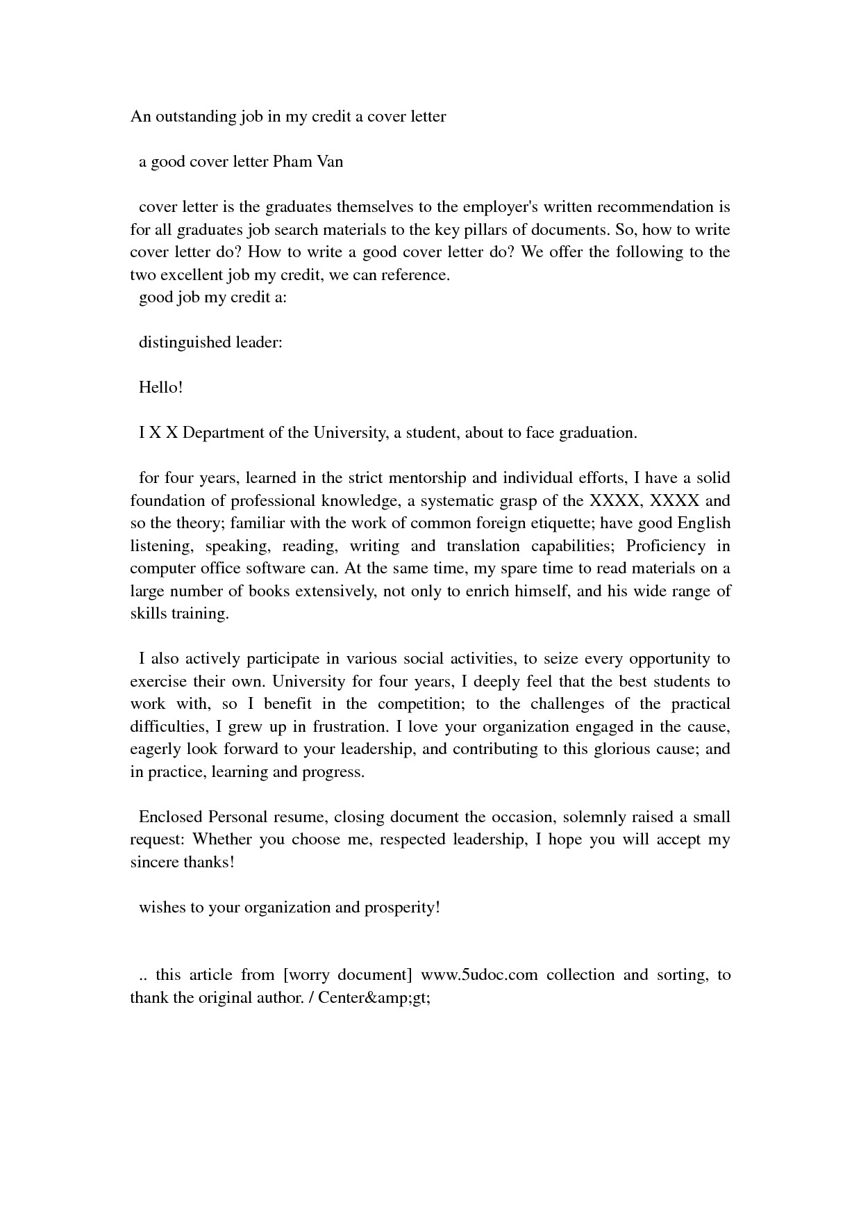 Example Of An Excellent Cover Letter Excellent Cover Letters Crna Cover Letter