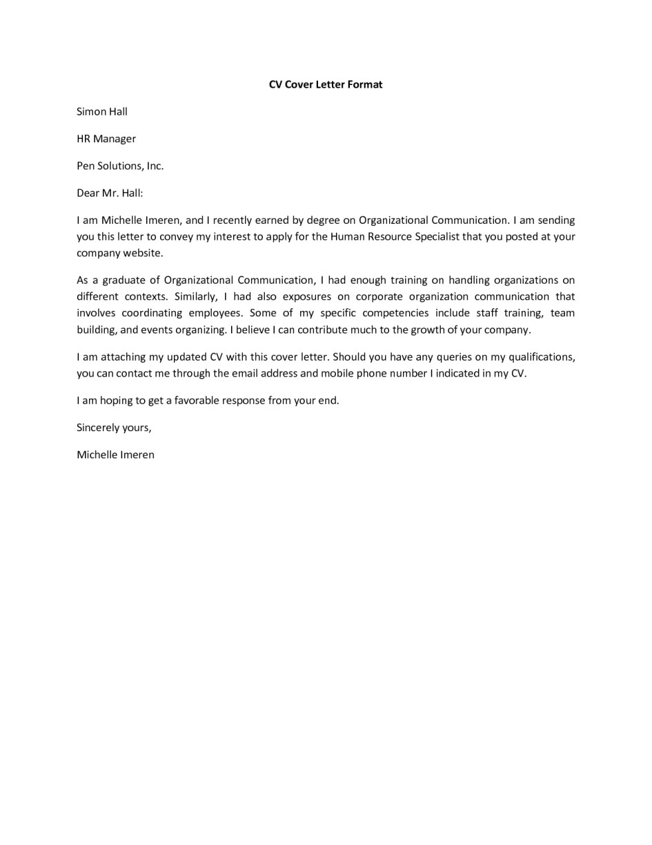Example Of Covering Letter to Go with Cv C V Cover Page Pictures Perfect Resume format
