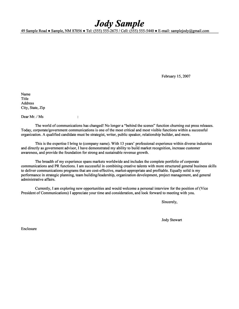Examples Of A Cover Letter for A Cv Sample Cover Letter Resume Cv