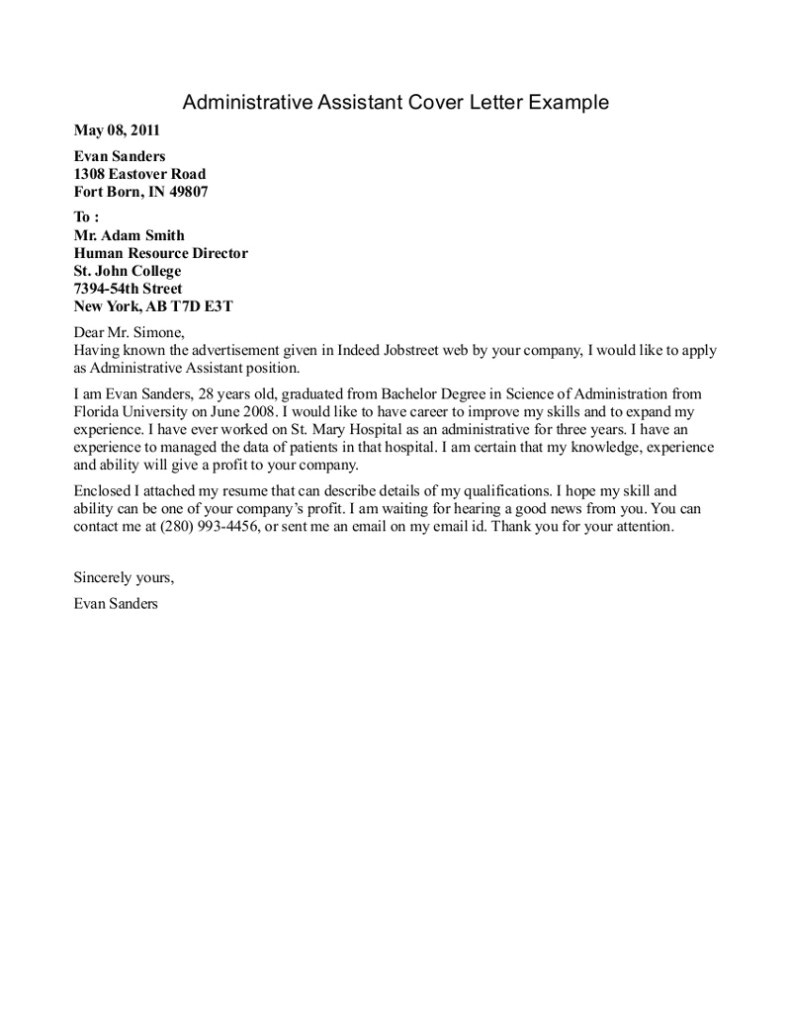 resume cover letter template 2017
