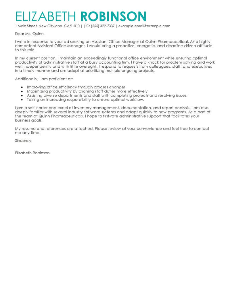 Examples Of Cover Letters for Administrative Positions Best Secretary Cover Letter Examples Livecareer