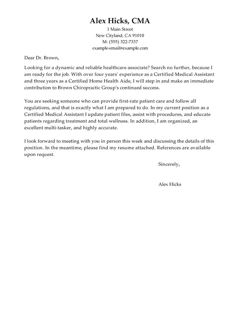 Examples Of Cover Letters for Healthcare Jobs Best Healthcare Cover Letter Examples Livecareer
