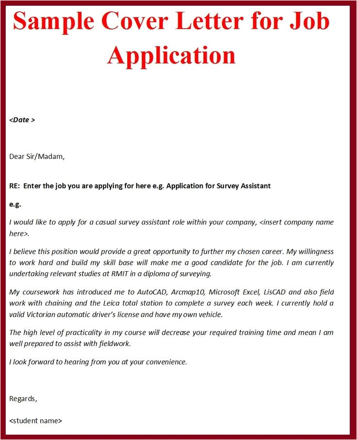 Examples Of Good Cover Letters for Job Applications Job Application Cover Letter Gplusnick