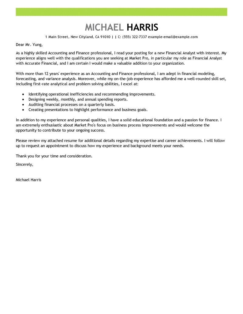 example of a cover letter for a job resume