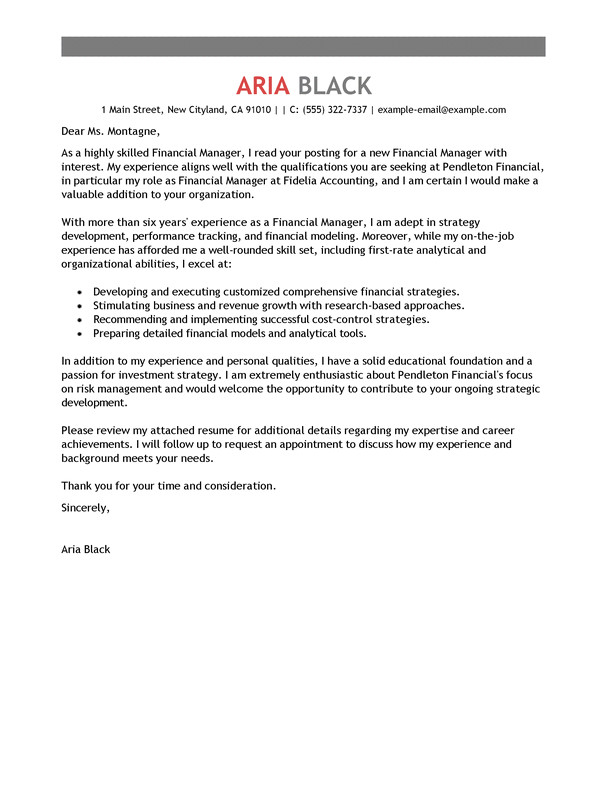 Examples Of Professional Cover Letters for Employment Resume Cover Letter Examples Resume Cv