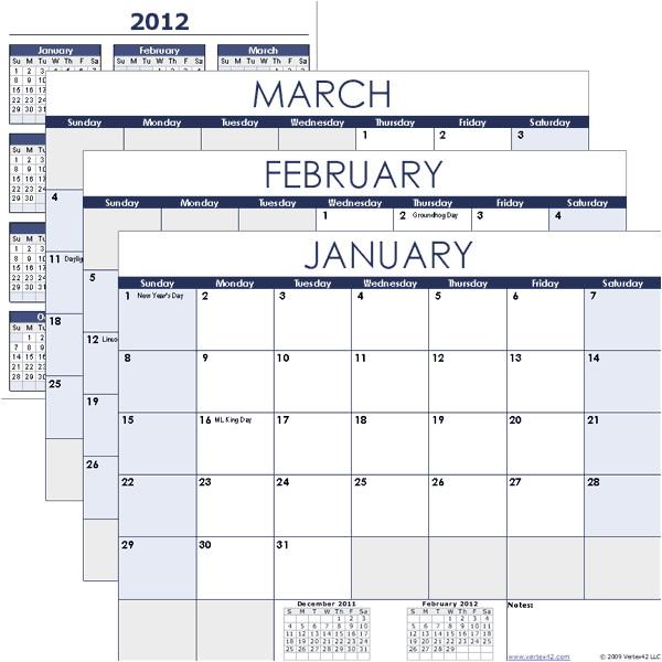 excel calendar template