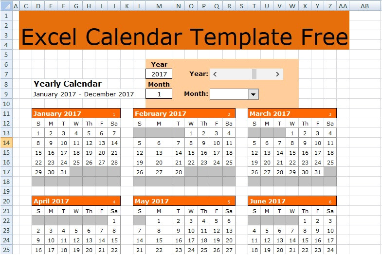 excel calendar template free