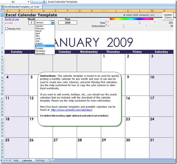 excel 2003 calendar templates