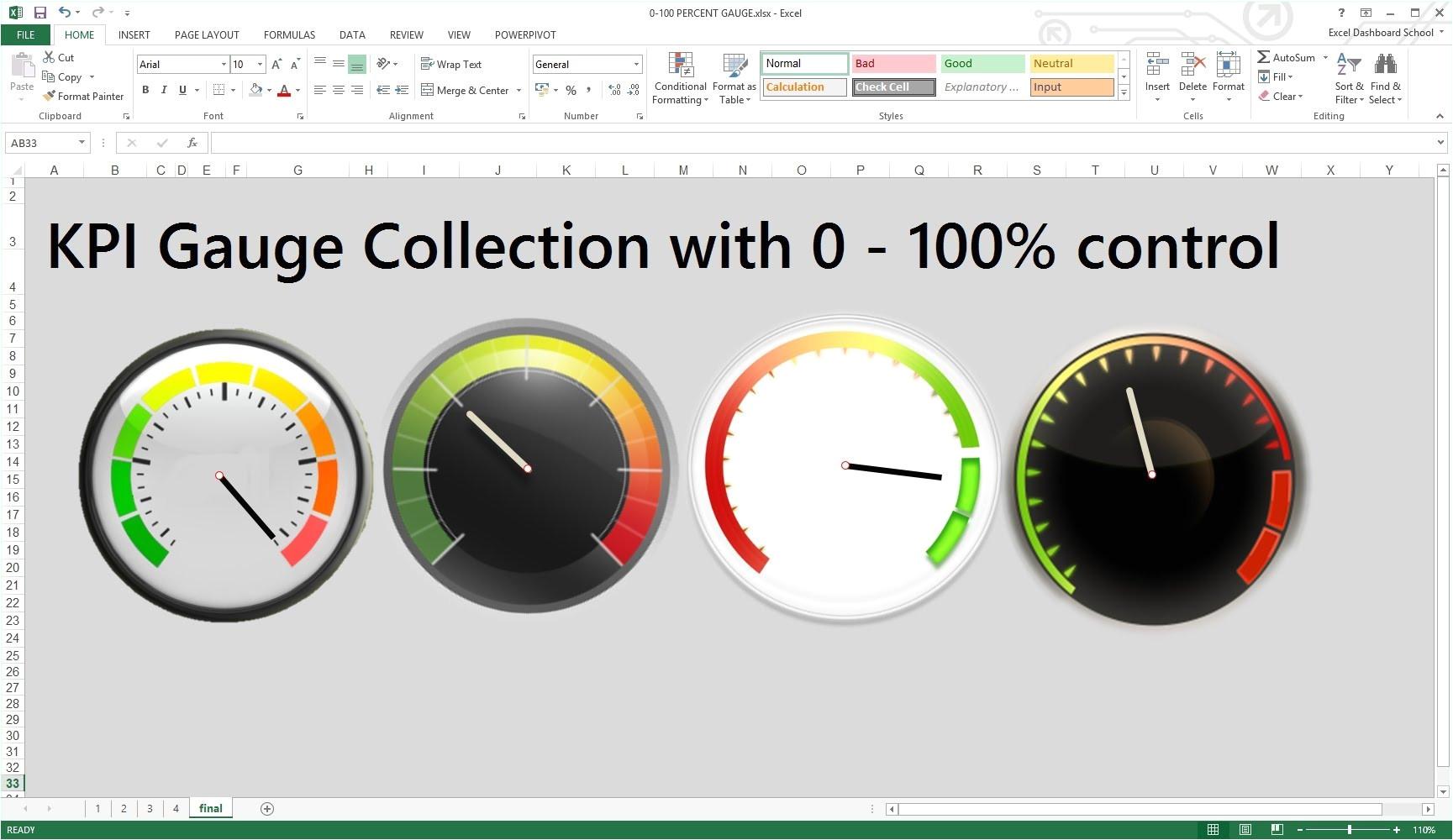 kpi dashboard excel template free download 935