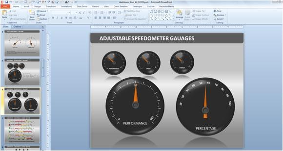 Excel Speedometer Template Download Powerpoint Dashboard toolkit