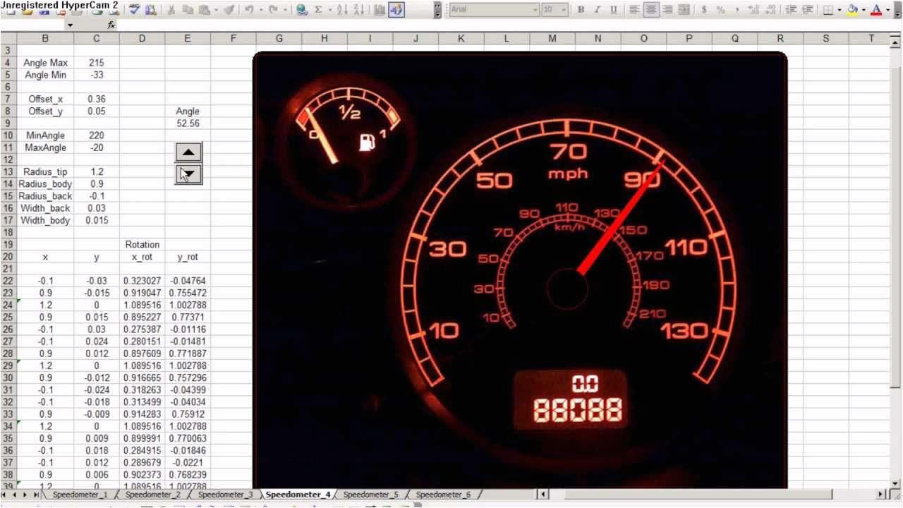 speedometer chart in excel 2010 free download