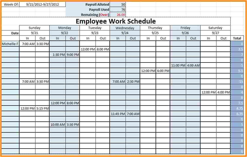 staff timetable template free excel employee schedule template excel employee work schedule template