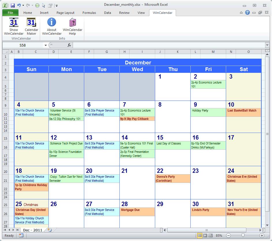 Excell Calendar Template Excel Calendar Template Calendar Template Excel