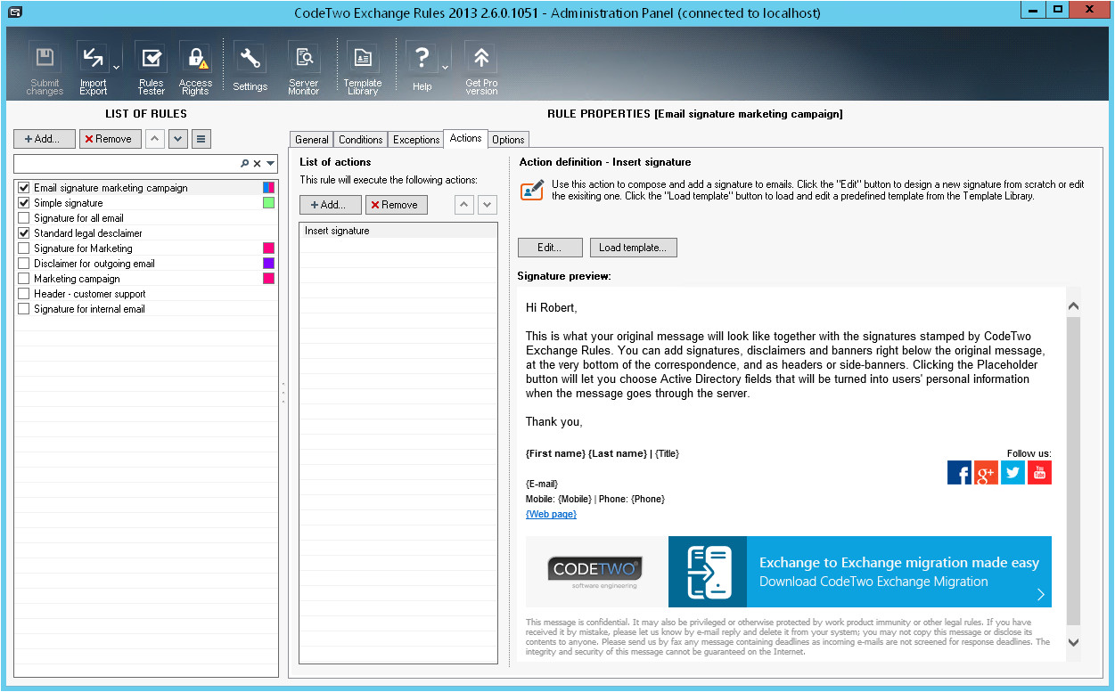 Exchange Email Templates Email Signature Management for Marketing Departments