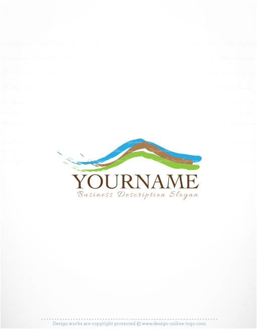 exclusive logo template mountain view logo image free business card design