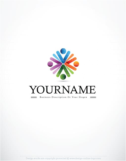 exclusive logo template people flower logo image free business card