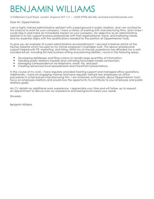 Executive assistant Cover Letter 2014 Cover Letter Templates Examples